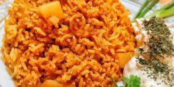 طرز تهیه استانبولی پلو ساده و خوشمزه با گوجه و سیب زمینی