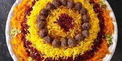 طرز تهیه هویج پلو خوشمزه و مجلسی با گوشت قلقلی و مرغ