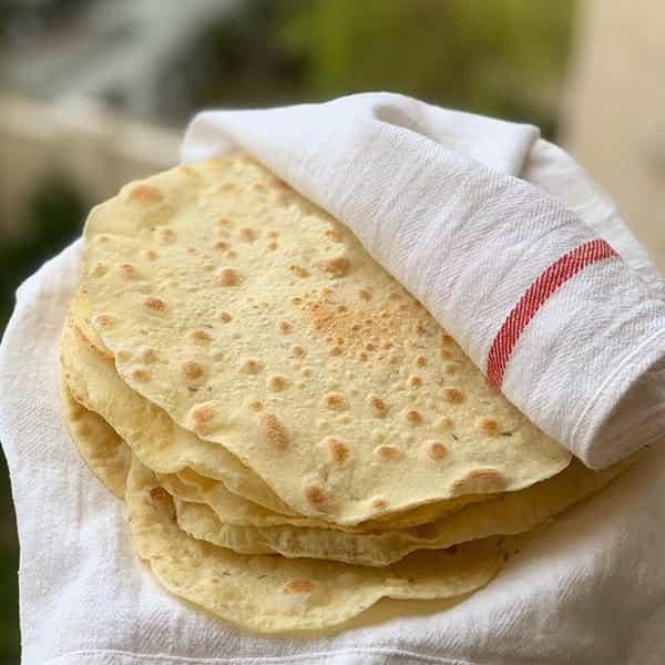 طرز تهیه نان لواش خانگی روی ساج در منزل برای صبحانه نانوایی سبوس دار ترکیه ایخمیر نان لواش محلی قزوینی شیرین