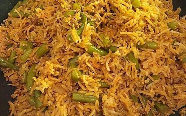 طرز تهیه لوبیا پلو شیرازی چشم بلبلی با مرغ بدون گوشت با گوشت چرخ کرده دونفره برای 8 نفر تبریزی